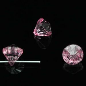 Beads, Imitation Crystal beads, Acrylic, pink, Faceted Teardrops, 12mm x 12mm x 13mm, 20g, 30 Beads, [SLZ0675]